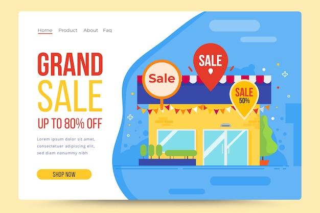 Página de inicio de resumen de ventas de plantilla