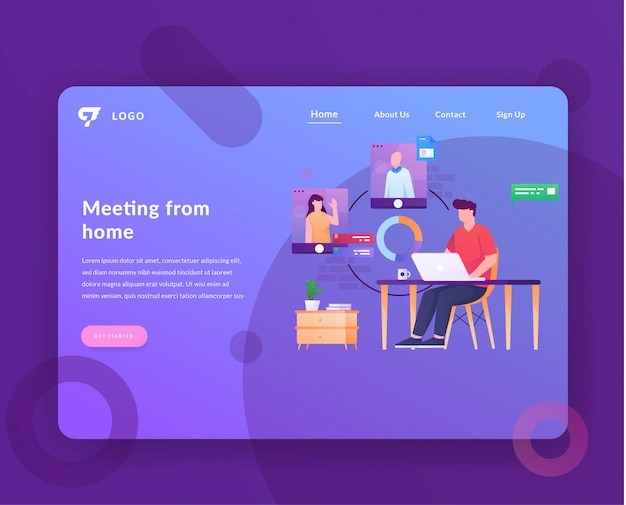 Página de inicio de la sala de reuniones