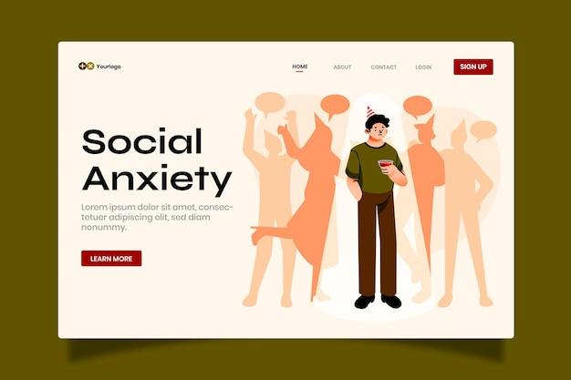 Página de inicio de salud mental plana