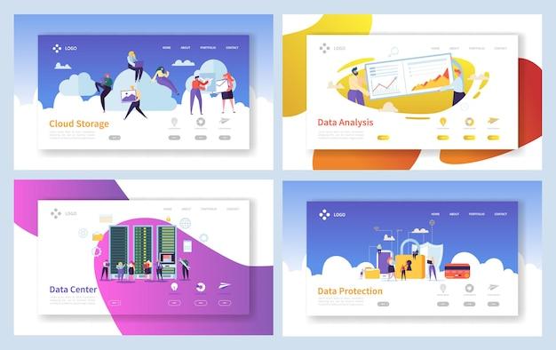 Página de inicio segura de análisis de almacenamiento de datos en la nube.