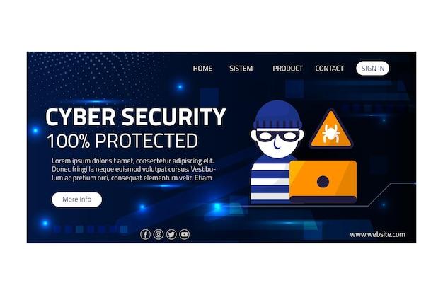 Página de inicio de seguridad cibernética
