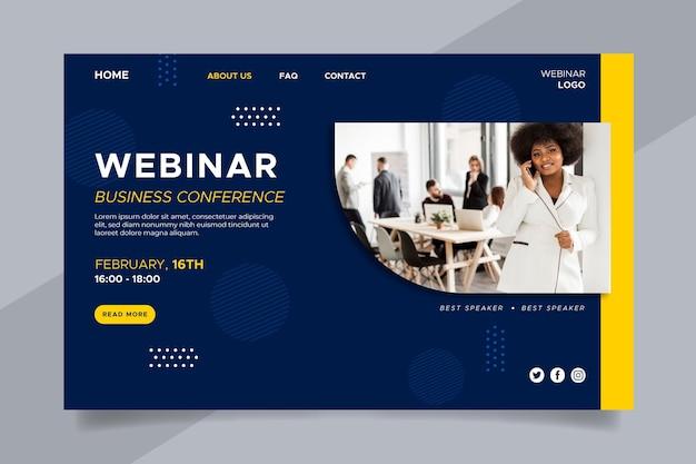 Página de inicio del seminario web