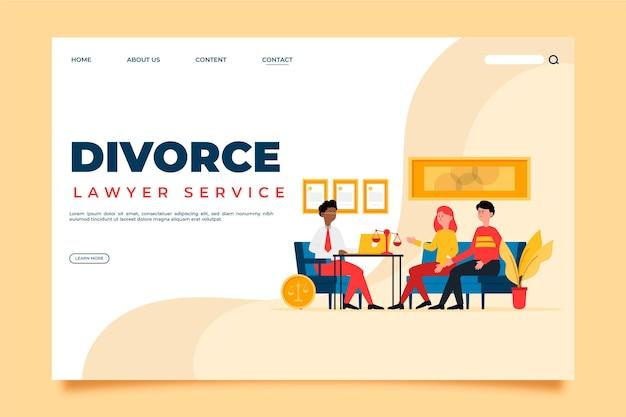 Página de inicio del servicio de abogado de divorcio