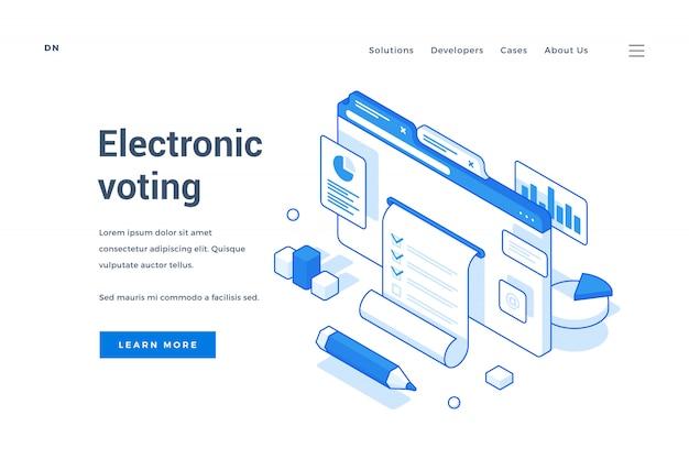 Página de inicio del servicio de votación electrónica