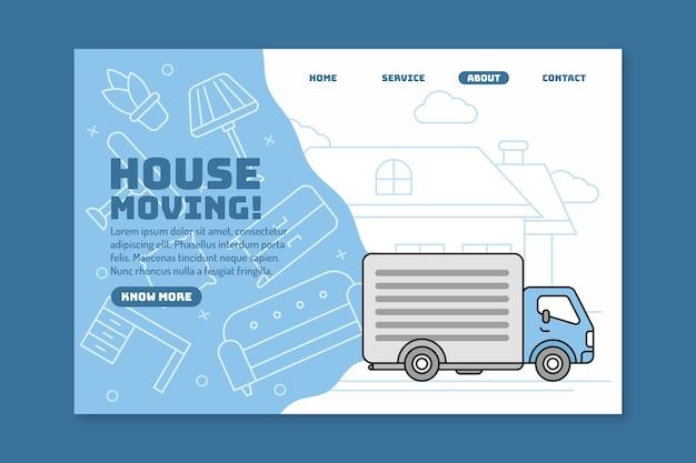 Página de inicio de servicios de mudanza de casa