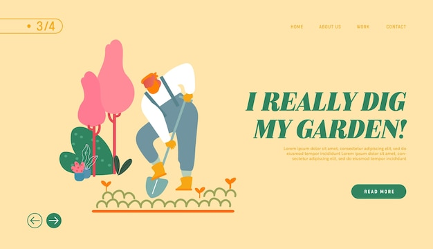 Página de inicio del sitio web de active outdoor hobby o work.
