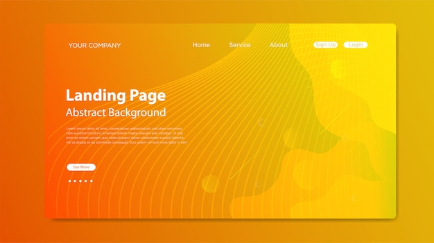 Página de inicio del sitio web con composición de formas fluidas