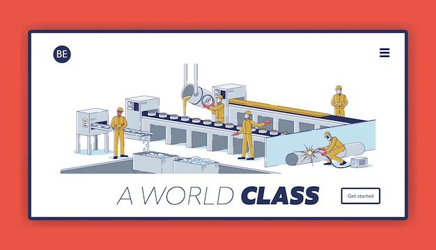 Página de inicio del sitio web de la industria metalúrgica