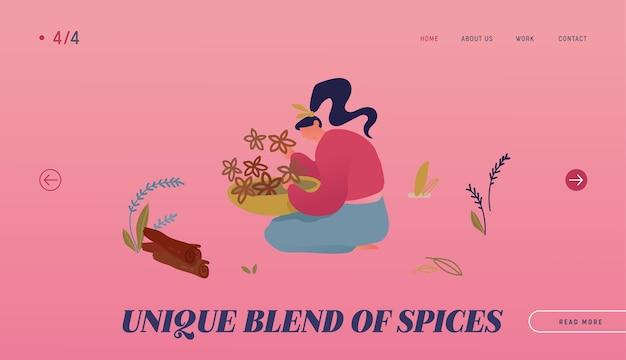 Página de inicio del sitio web de ingredientes de especias y condimentos.