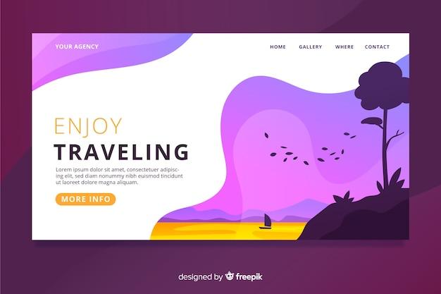 Página de inicio sobre viajes