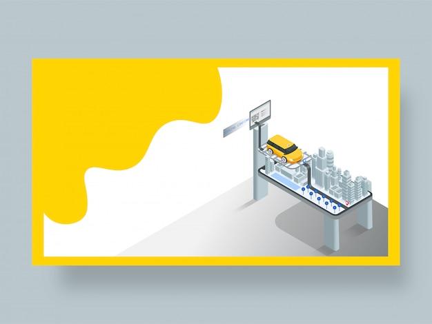 Página de inicio para la solicitud de reserva de taxi en línea.