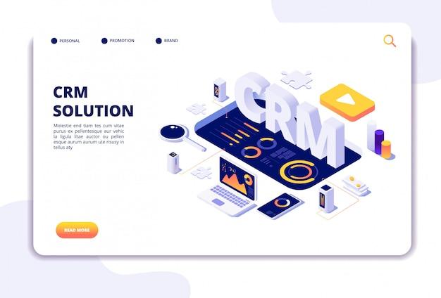 Página de inicio de la solución de crm