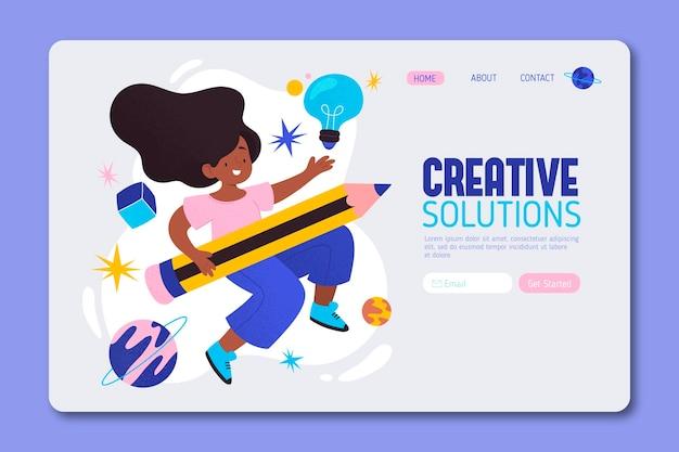 Página de inicio de soluciones creativas