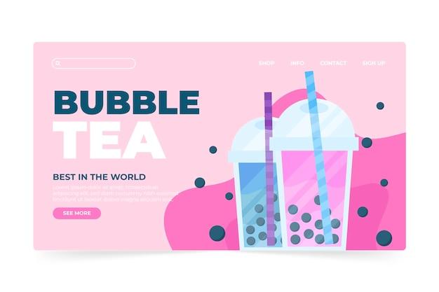 Página de inicio de té de burbujas