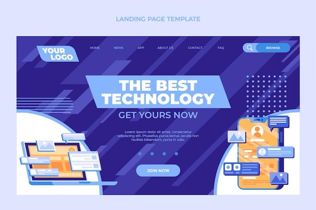 Página de inicio de tecnología mínima plana