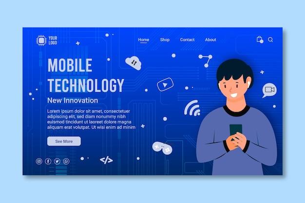 Página de inicio de tecnología móvil