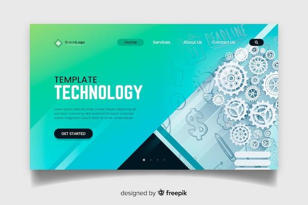 Página de inicio de tecnología de plantilla