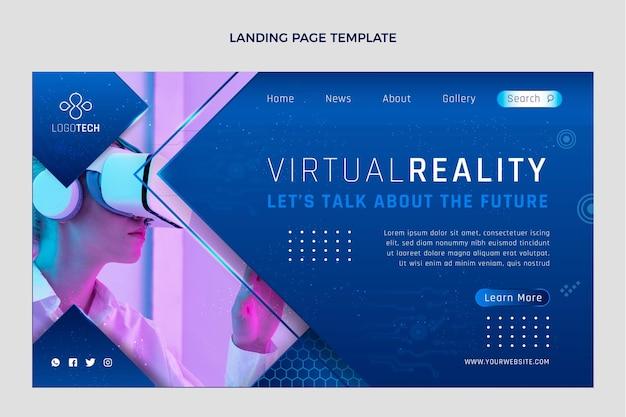 Página de inicio de tecnología de textura degradada