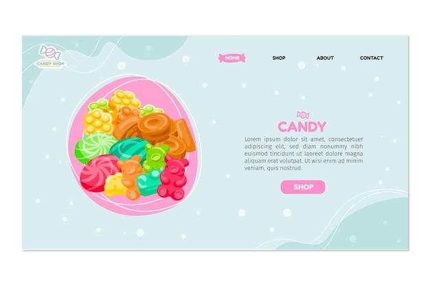 Página de inicio de la tienda de dulces