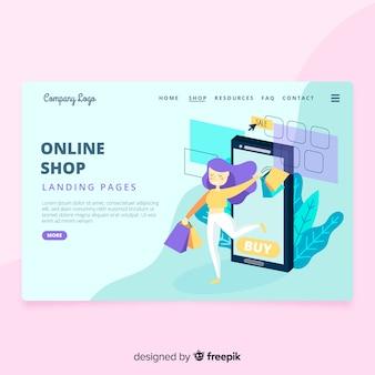 Página de inicio de la tienda en línea