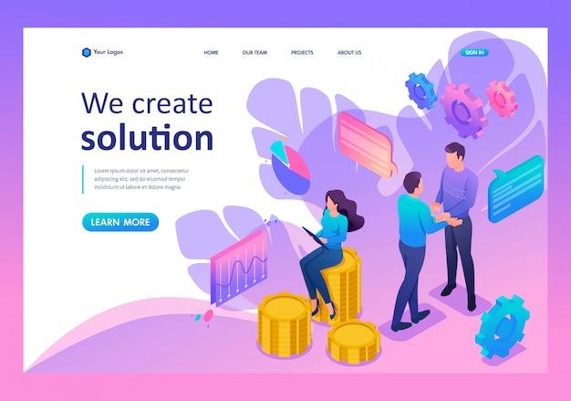 Página de inicio de trabajo en equipo para crear una solución