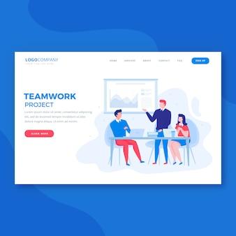 Página de inicio de trabajo en equipo