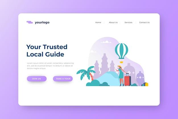 Página de inicio de turismo local