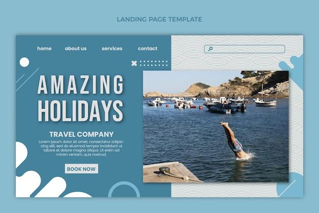 Página de inicio de vacaciones increíbles de diseño plano