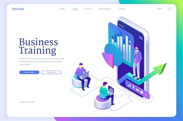 Página de inicio de vector de educación empresarial