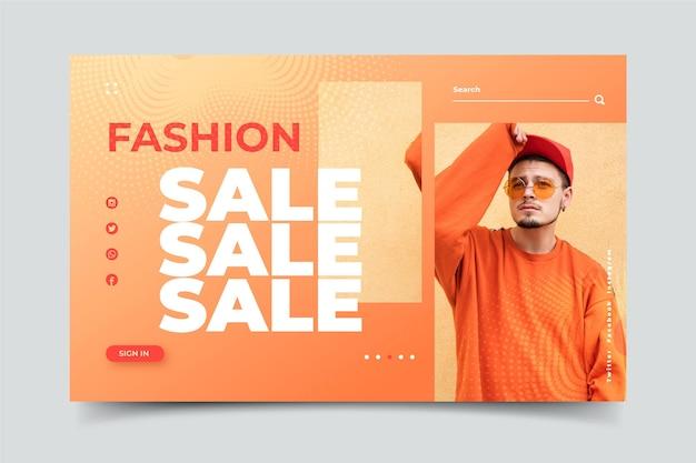Página de inicio de venta de moda