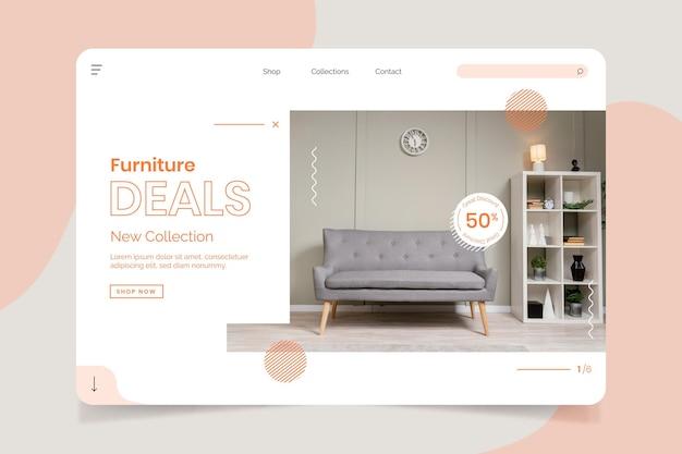 Página de inicio de venta de muebles