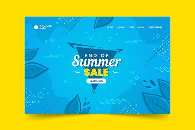 Página de inicio de la venta de verano de fin de temporada