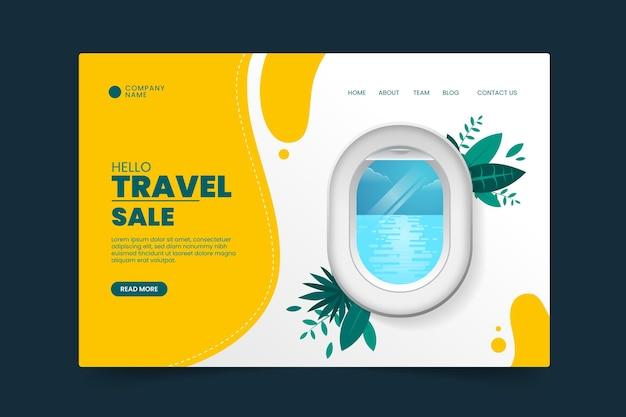 Página de inicio de venta de viajes