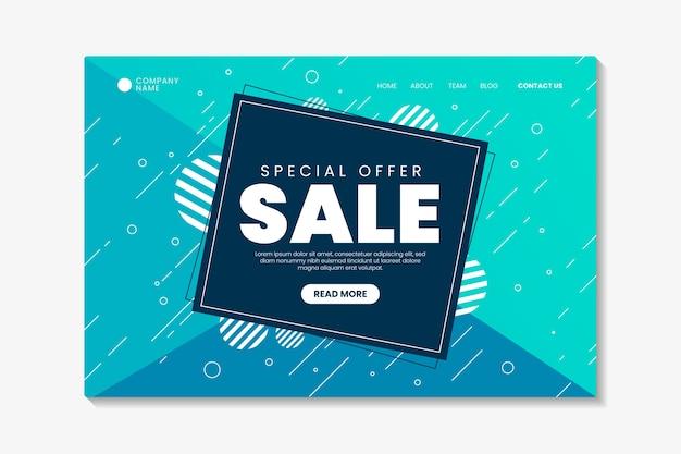 Página de inicio de ventas abstractas