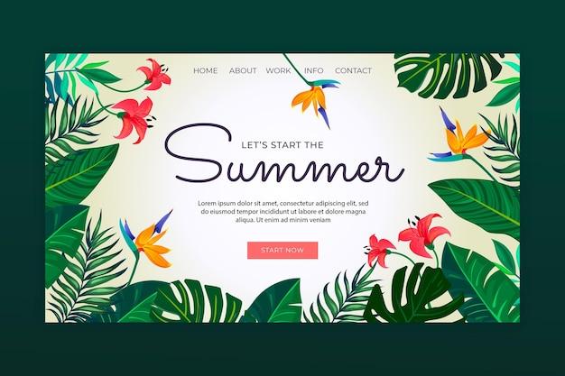 Página de inicio de verano degradado