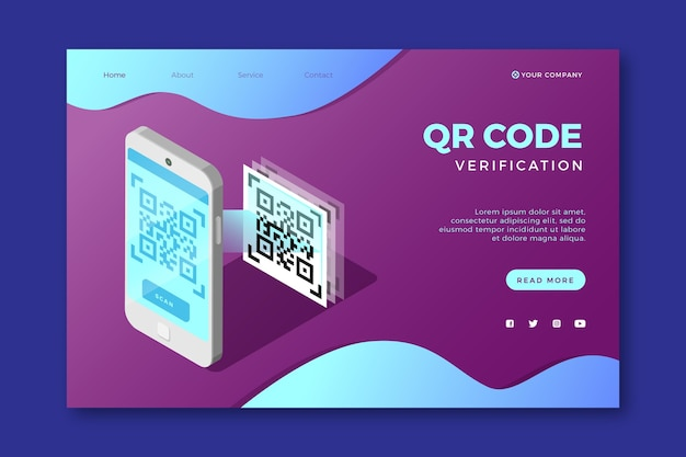Página de inicio de verificación de código qr