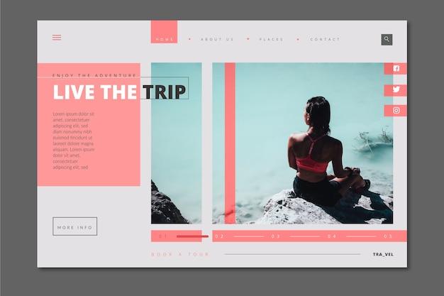 Página de inicio de viaje con imagen