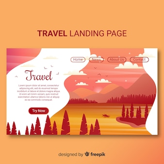 Página de inicio de viaje