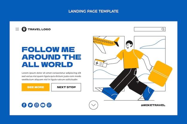 Página de inicio de viajes de diseño plano