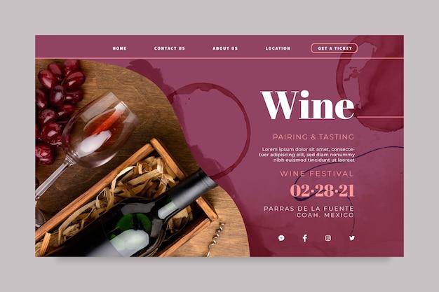 Página de inicio de vino
