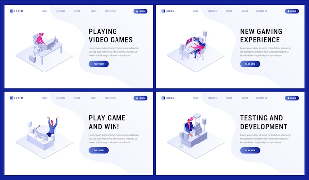 Página de landin. ilustración de torneo de jugador