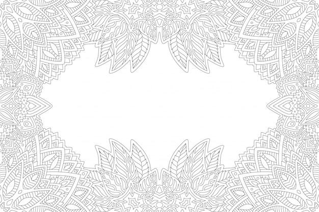 Página de libro para colorear con patrones abstractos sin fisuras