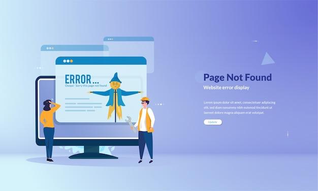 La página no se puede encontrar concepto de banner