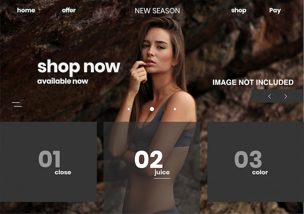 Página de plantilla web shop online