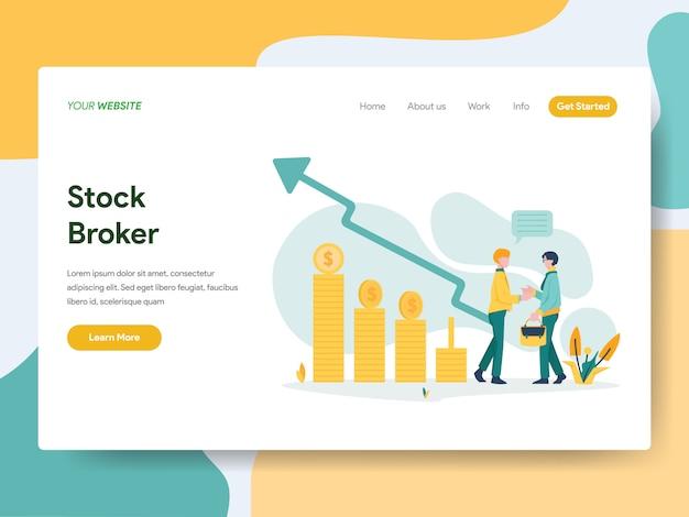 Página del sitio web del corredor de bolsa