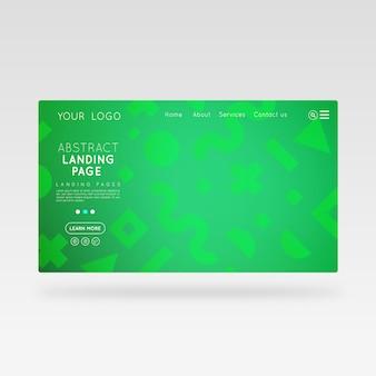 Página verde abstracta de la página de destino