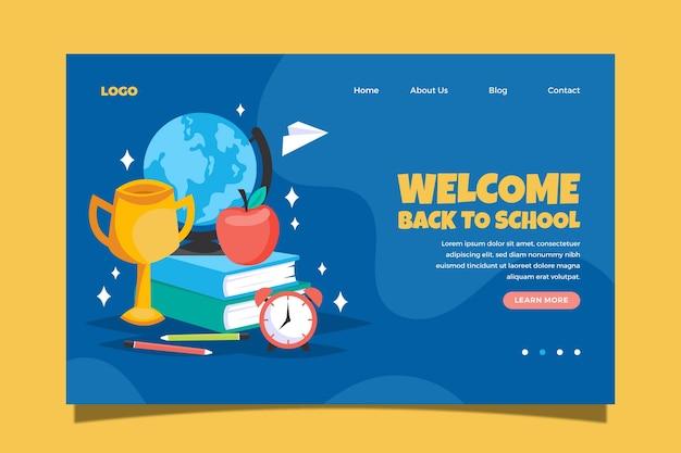 Página web de regreso a la escuela