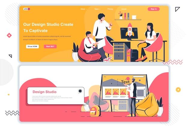 Páginas de aterrizaje de estudios de diseño