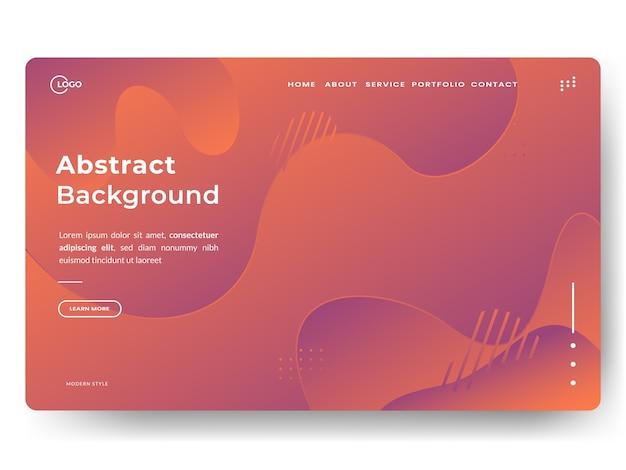 Páginas de aterrizaje de moda abstractas, se pueden utilizar para desarrollo web