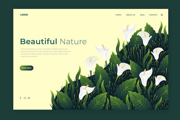 Páginas de aterrizaje sobre la naturaleza